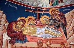 Iglesia del fresco de Santo Sepulcro Imágenes de archivo libres de regalías