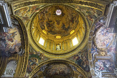 Iglesia del Gesu, Roma, Italia Imagen de archivo libre de regalías