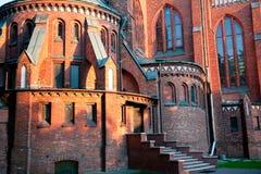 Iglesia del ImmaChurch de la Inmaculada Concepción en el concepto de Pruszkowculate en Pruszkow Imagenes de archivo