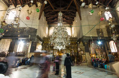 Iglesia del interior de la natividad, Belén, Israel Imagen de archivo