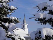 Iglesia del invierno Foto de archivo libre de regalías