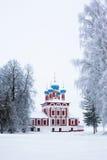 Iglesia del invierno Imagen de archivo libre de regalías