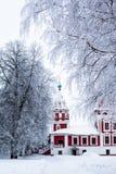 Iglesia del invierno Fotos de archivo
