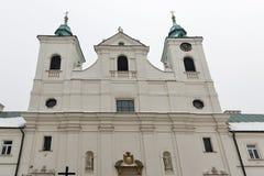 Iglesia del invierno de la cruz santa en Rzeszow, Polonia Imagen de archivo libre de regalías