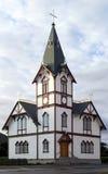 Iglesia del Local de Husavik Imagen de archivo libre de regalías