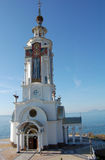 Iglesia del mar de Ortodox Foto de archivo libre de regalías