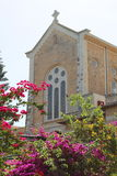 Iglesia del monasterio de Latrun, Israel Foto de archivo