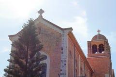 Iglesia del monasterio de Latrun, Israel Imagen de archivo
