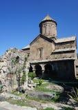 Iglesia del monasterio de Zarzma con la visión grave foto de archivo