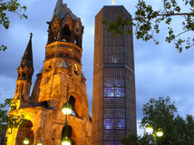 Iglesia del monumento de Kaiser Wilhelm Imagen de archivo libre de regalías