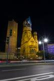 Iglesia del monumento de Kaiser Wilhelm Imagen de archivo
