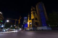 Iglesia del monumento de Kaiser Wilhelm Fotos de archivo libres de regalías