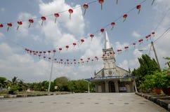 Iglesia del nombre santo de Maria con la linterna roja Imagen de archivo libre de regalías