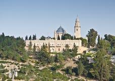 Iglesia del ofVirgin Maria de Dormition en Jerusalén Imagenes de archivo