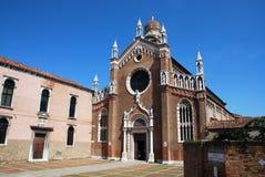 Iglesia del ` Orto de Madonna Dell en Venecia Fotografía de archivo libre de regalías