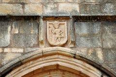 Iglesia del peregrino de Santiago, Caceres, Extremadura, España Foto de archivo libre de regalías