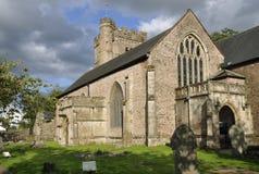 Iglesia del priorato de St Mary, Usk Imagenes de archivo