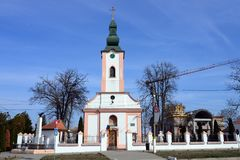Iglesia del pueblo de Giroc imagen de archivo