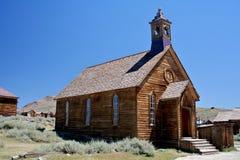 Iglesia del pueblo fantasma Fotos de archivo libres de regalías