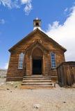 Iglesia del pueblo fantasma foto de archivo