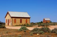 Iglesia del pueblo fantasma Fotografía de archivo