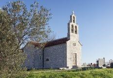 Iglesia del pueblo, Montenegro Foto de archivo libre de regalías