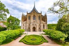 Iglesia del ` s de Barbara del santo en Kutna Hora, Rep?blica Checa fotografía de archivo