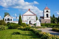 Iglesia del ` s de St Anne en Mosar, Bielorrusia Monumento arquitectónico del clasicismo En 1792 año construido en el sitio de la foto de archivo