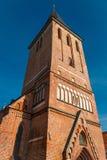 Iglesia del ` s de St John de la torre del kirik de Jaani en Tartu, Estonia Foto de archivo