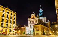 Iglesia del Sacramento, a Baroque-style Roman Catholic church located in Madrid, Spain Stock Photo