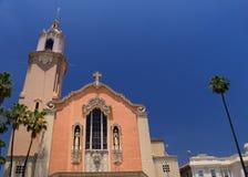 Iglesia del sacramento bendecido Los Ángeles California imagenes de archivo
