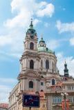 Iglesia del Saint Nicolas en Praga Imagen de archivo libre de regalías