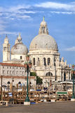 Iglesia del saludo del della de Santa María en Venecia Fotografía de archivo