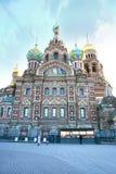 Iglesia del salvador en la sangre derramada en St Petersburg, Rusia Imagen de archivo libre de regalías