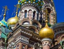 Iglesia del salvador en sangre derramada en St Petersburg Russi fotografía de archivo