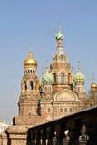 Iglesia del salvador en sangre derramada o catedral de la resurrección de Cristo, St Petersburg fotografía de archivo libre de regalías