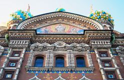 Iglesia del salvador en sangre derramada St Petersburg, Rusia Foto de archivo libre de regalías