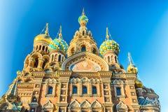 Iglesia del salvador en sangre derramada, St Petersburg, Rusia Foto de archivo libre de regalías