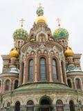 Iglesia del salvador en sangre derramada, St Petersburg, Rusia Imagen de archivo libre de regalías