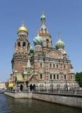 Iglesia del salvador en sangre. St Petersburg Foto de archivo