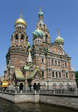 Iglesia del salvador en sangre. St Petersburg Imagen de archivo