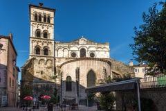 Iglesia del santo Andre le Bas en Vienne - Francia Imagen de archivo