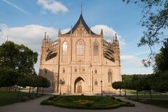 Iglesia del santo Barbara en Kutna Hora, República Checa LA UNESCO fotos de archivo