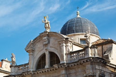 Iglesia del santo Blasius en Dubrovnik Imagen de archivo libre de regalías