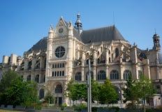 Iglesia del santo-Eustache en el centro de París foto de archivo