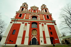 Iglesia del santo Felipe y Jacob, Vilna, Lituania Imagenes de archivo