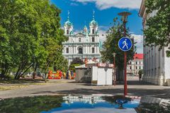 Iglesia del santo Francis Xavier en Grodno foto de archivo