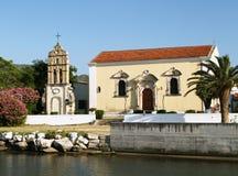 Iglesia del santo Harlampiya 1729 en la isla de Zante Fotografía de archivo