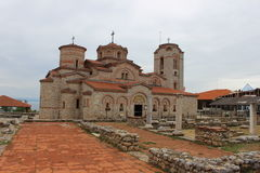 Iglesia del santo Panteleimon y de St Clement - Ohrid fotos de archivo libres de regalías