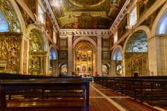 Iglesia del santo Roch - Lisboa, Portugal fotos de archivo
